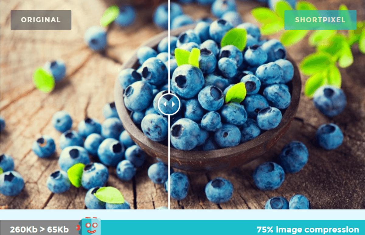 Bildergrösse verkleinern mit Short Pixel Optimierug